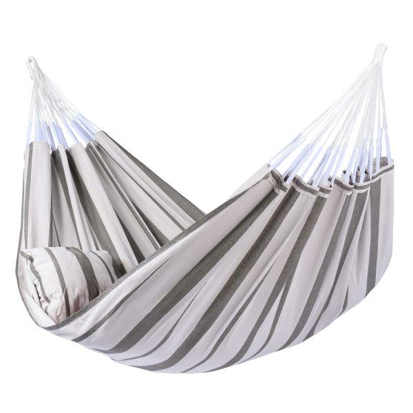 'Stripes' Silver XXL Hängematte