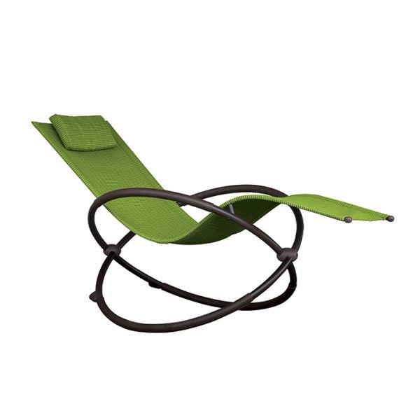 'Orbital' Lounger Green Schaukelstuhl