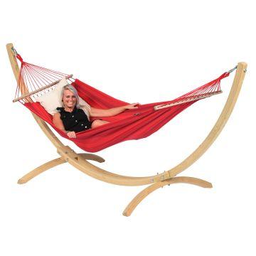 Wood & Relax Red Hängematte mit Gestell