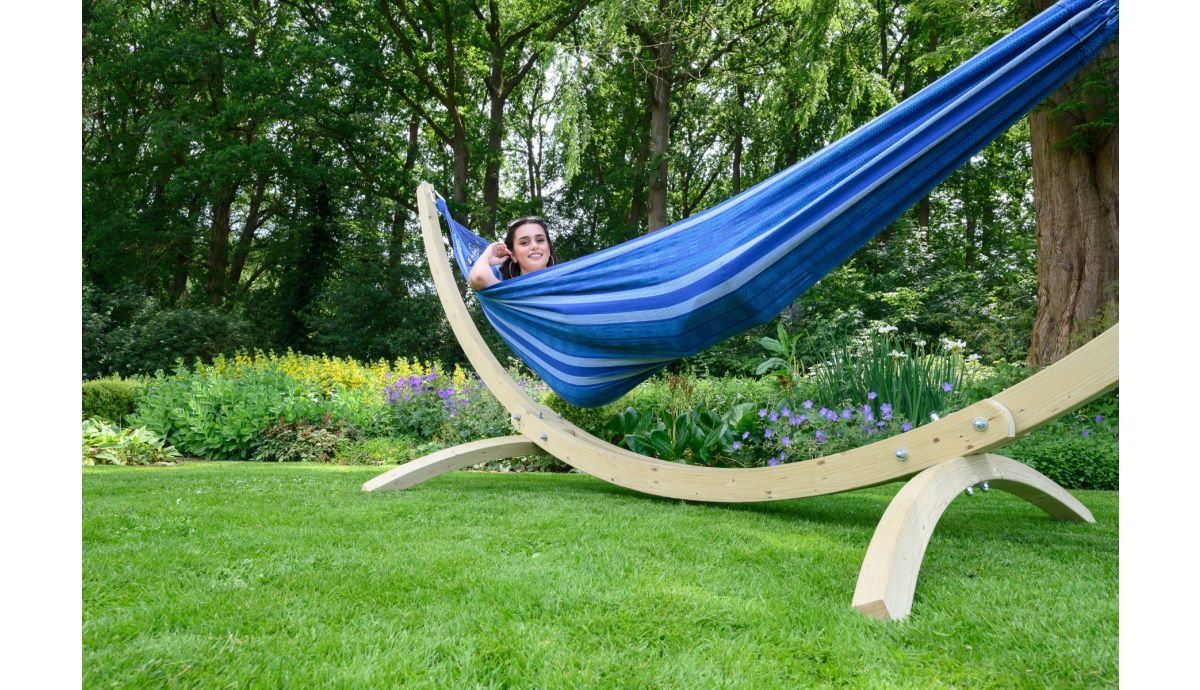 'Wood & Chill' Calm Hängematte mit Gestell